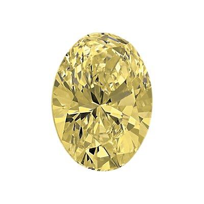 0.54-Carat Light Yellow Oval Cut Diamond