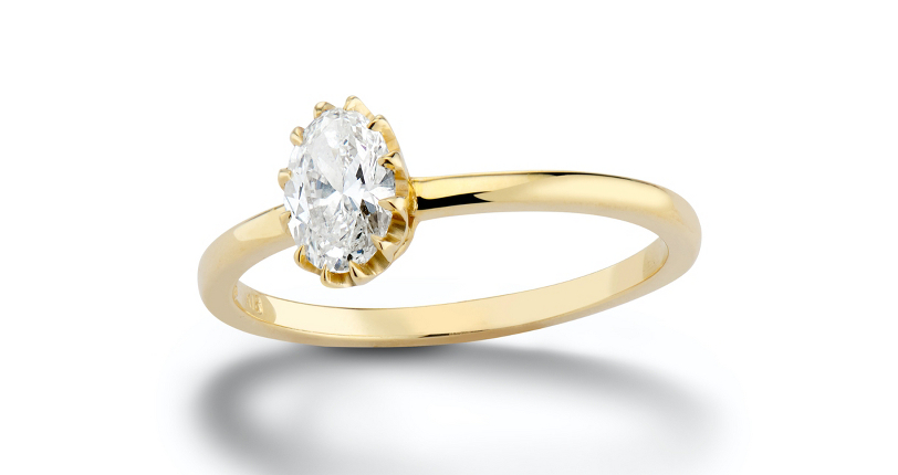 Platt Boutique Jewelry 'Heirloom' Prong-Set Diamond Engagement Ring 18k Yellow Gold