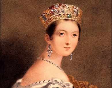 A portrait of Queen Victoria