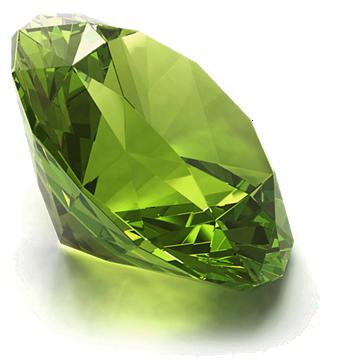 Round Peridot gemstone