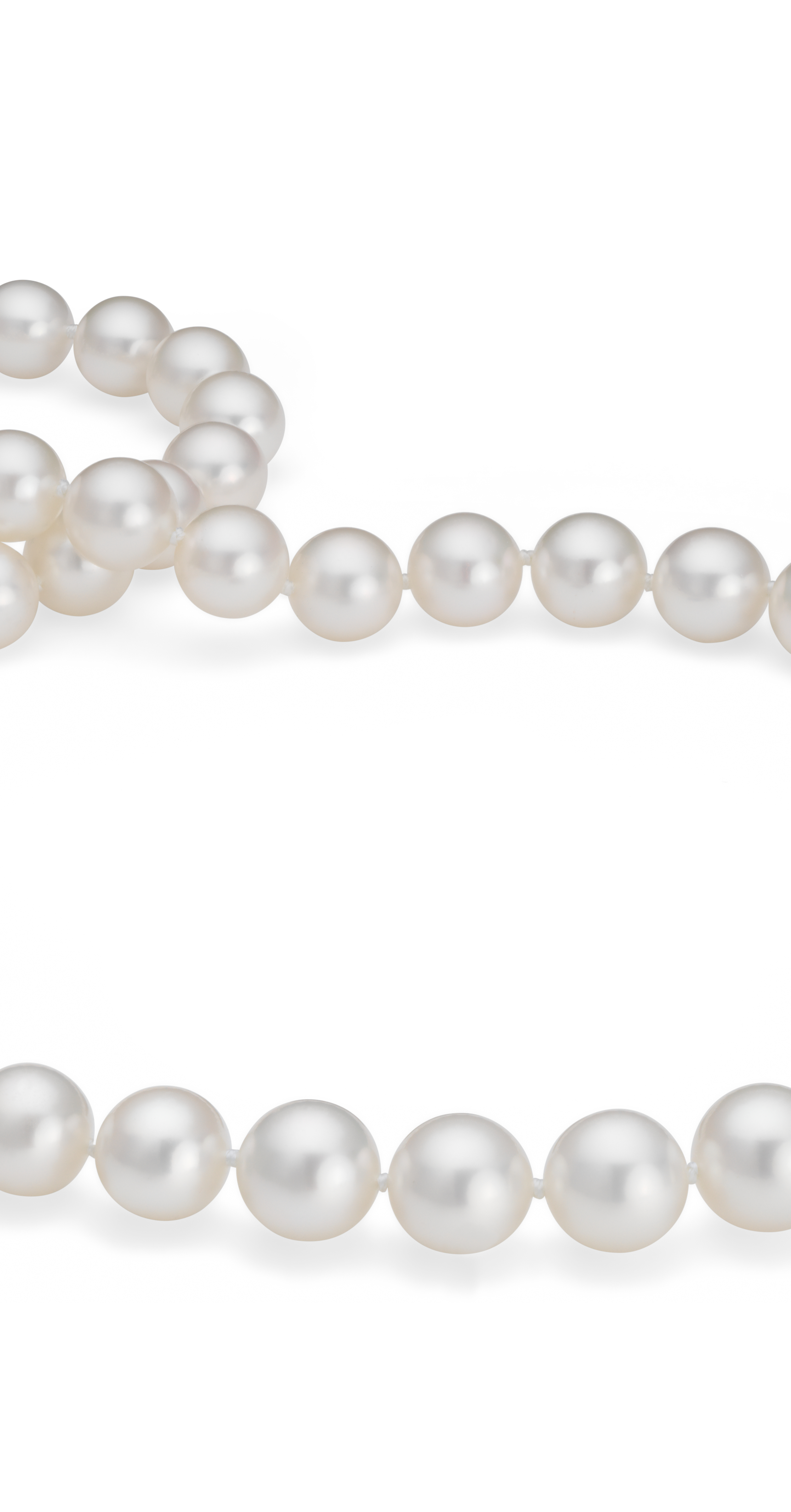 South Sea Pearl Strands with 18k White Gold