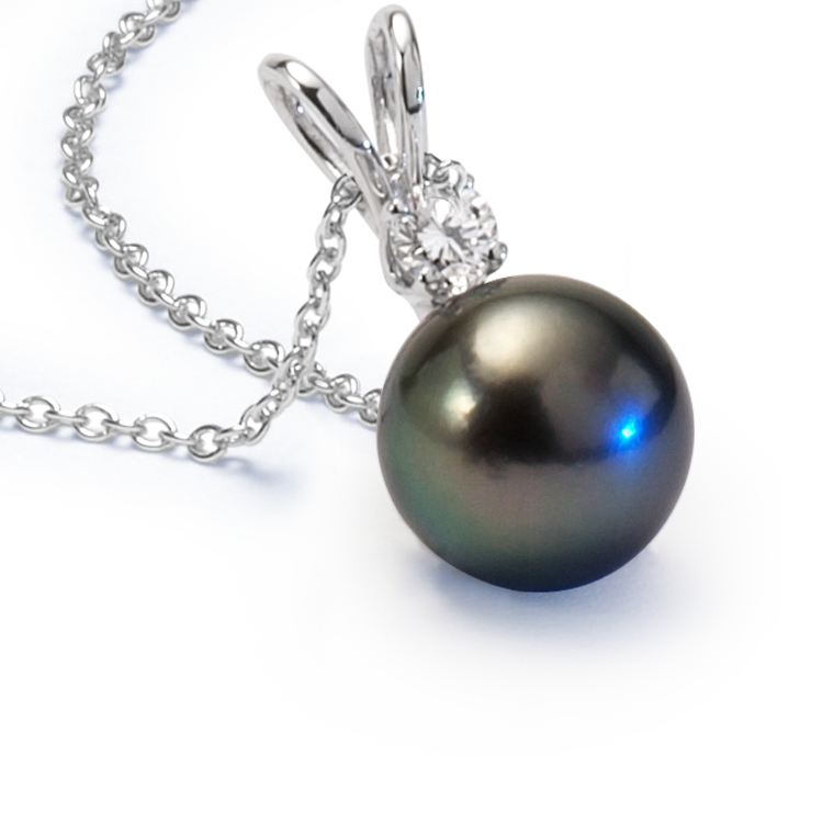 Tahitian Pearl Pendants in 18k White Gold