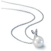 Freshwater Pearl Pendants in 14k White Gold