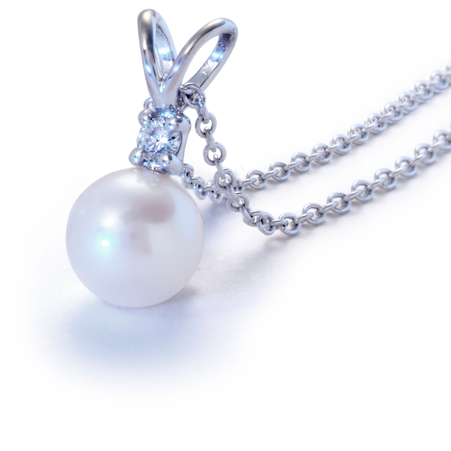 South Sea Pearl Pendants in 18k White Gold