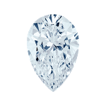 Pear shape diamond selected with a fancy blue color