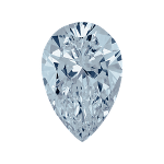 Pear shape diamond with a intense blue color