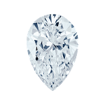 Pear shape diamond with a light blue color
