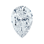Pear shape diamond with a very light blue color