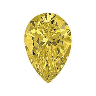 0,40-Carat Yellow Pear Shaped Diamond