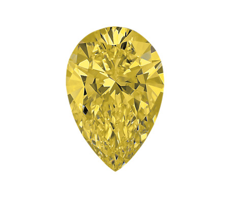 0.57-Carat Brownish Yellow Pear Shaped Diamond by Blue Nile
