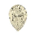 Pear shape diamond with a faint yellow colour