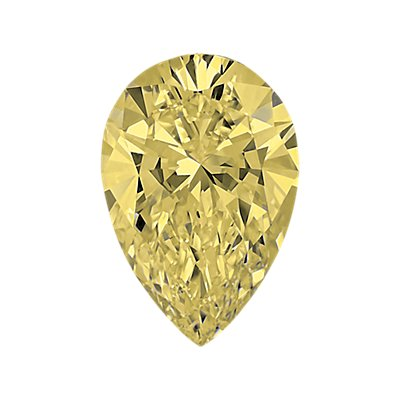 0,46-Carat Light Yellow Pear Shaped Diamond
