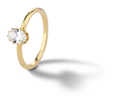 Platt Boutique Jewelry 'The Crown' Prong-Set Diamond Engagement Ring in 18k Yellow Gold