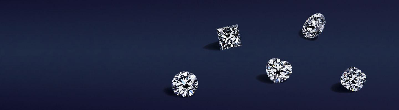 Une sélection de diamants non sertis