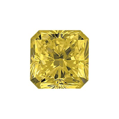 0,36-Carat Yellow Radiant Cut Diamond