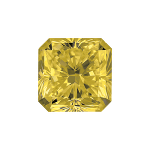 Radiant shape diamond selected with a fancy yellow colour