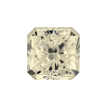 Radiant shape diamond with a faint yellow colour