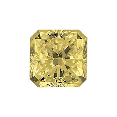 0,50-Carat Light Yellow Radiant Cut Diamond