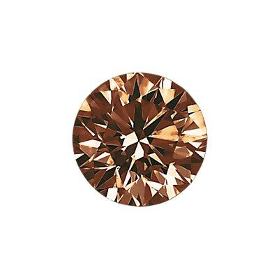 1.00 克拉深棕圆形切割钻石