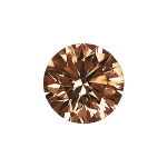 Round shape diamond with a dark brown color