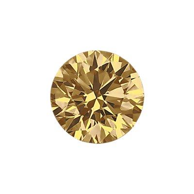 0.37 克拉棕色圆形切割钻石