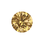 Round shape diamond with a fancy brown color