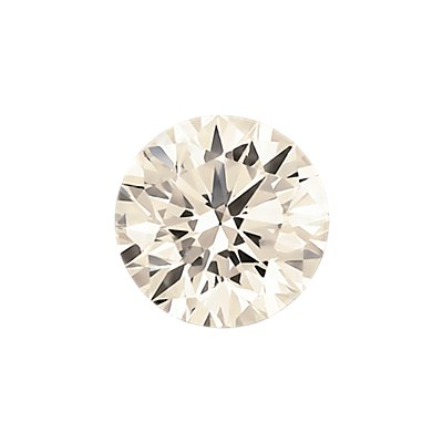 0,39-Carat Faint Pinkish Brown Round Cut Diamond