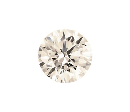 0.39-Carat Faint Pinkish Brown Round Diamond