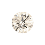 Round shape diamond with a faint brown color