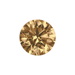 Round shape diamond with a intense brown color