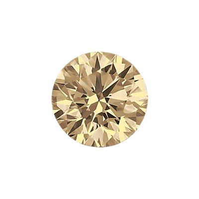 0.28 克拉浅棕圆形切割钻石