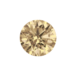Round shape diamond selected with a light brown color
