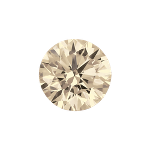 Round shape diamond with a very light brown color