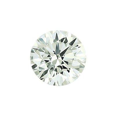 0.30 克拉淡黄绿圆形切割钻石