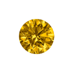Round shape diamond selected with a dark yellow color