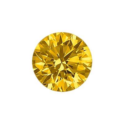 0.28-Carat Deep Yellow Round Cut Diamond