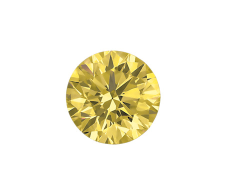 0.34-Carat Yellow Round Diamond by Blue Nile