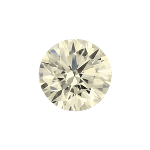 Round shape diamond with a faint yellow color