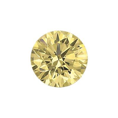 0.30 克拉浅棕黄圆形切割钻石