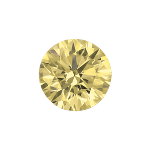 Round shape diamond with a light yellow color