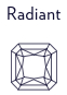 Diamants taille radiant