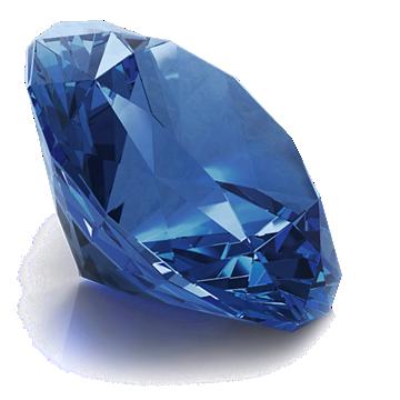 Round Sapphire gemstone