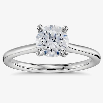 單石訂婚戒指