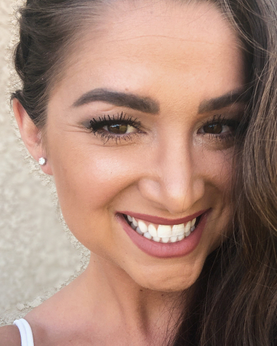 Stephanie wearing her beautiful diamond earrings