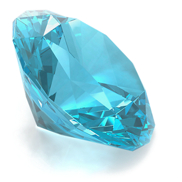 Round Blue Topaz gemstone
