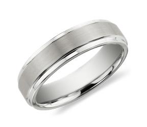 男士钨金结婚戒指
