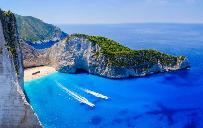 A breathtaking view overlooking one of the world's bluest bays.