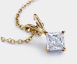 Diamond Solitaire Pendant Custom Options | Blue Nile