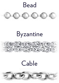 Bead Byzantine and Cable Chain