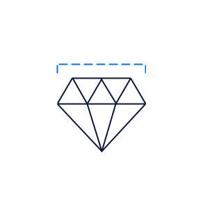 diamond size drawing